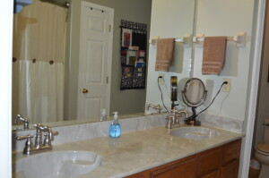 Master Bath with Double Vanity and Tub/Shower Combo