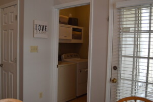 Spacious Laundry Room with Shelving